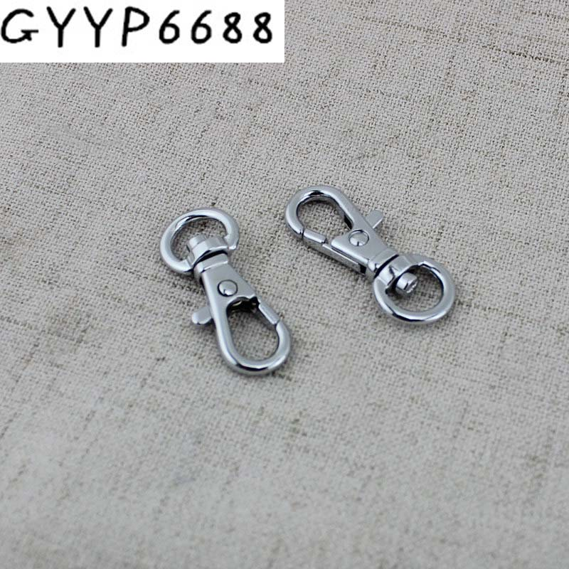 10pcs 100pcs 9mm Chrome Handbag Plating Metal Swivel Small Snap Hook Bag Hardware Buckle Purse Hook Swivel DIY FOR BAG