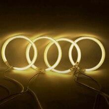 Feeldo 4X120 мм желтый автомобиль CCFL Halo Кольца Ангел LED глаза фар Наборы для BMW e32.e34. e30.e39oem # am4164