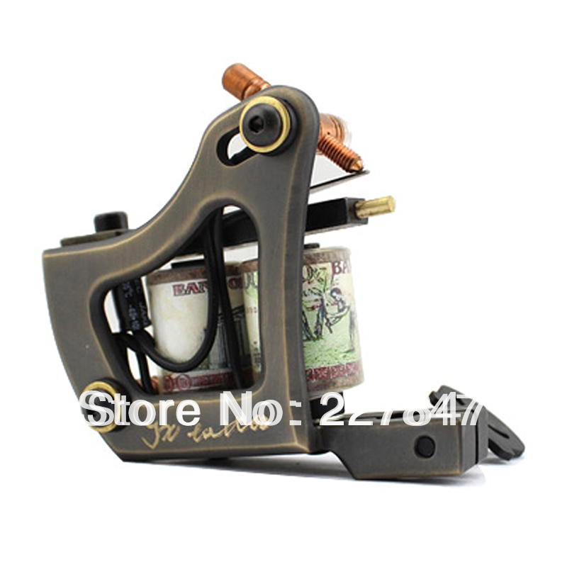 ФОТО CHUSE Tattoo Machine Machine Gun  8804 Copper Carved Lettering Professional Rotary Machine Gun        microblading  eyes PMU