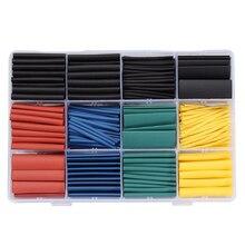 530 ШТ. Галогенов 2:1 Термоусадочные Трубки Жильный Кабель Wrap Провод Комплект 8 Размер 5 Цвет горячая продажа