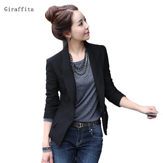 2016 Fashion Autumn Women Classic Solid Color Slim Thin Small Business Suit Coat Kroean Women Blazer