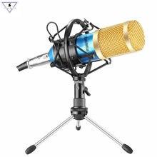 Bm 800 Mikrofon kondenser ses kayıt Bm800 Mikrofon şok dağı ile radyo yayını şarkı kayıt KTV Karaoke