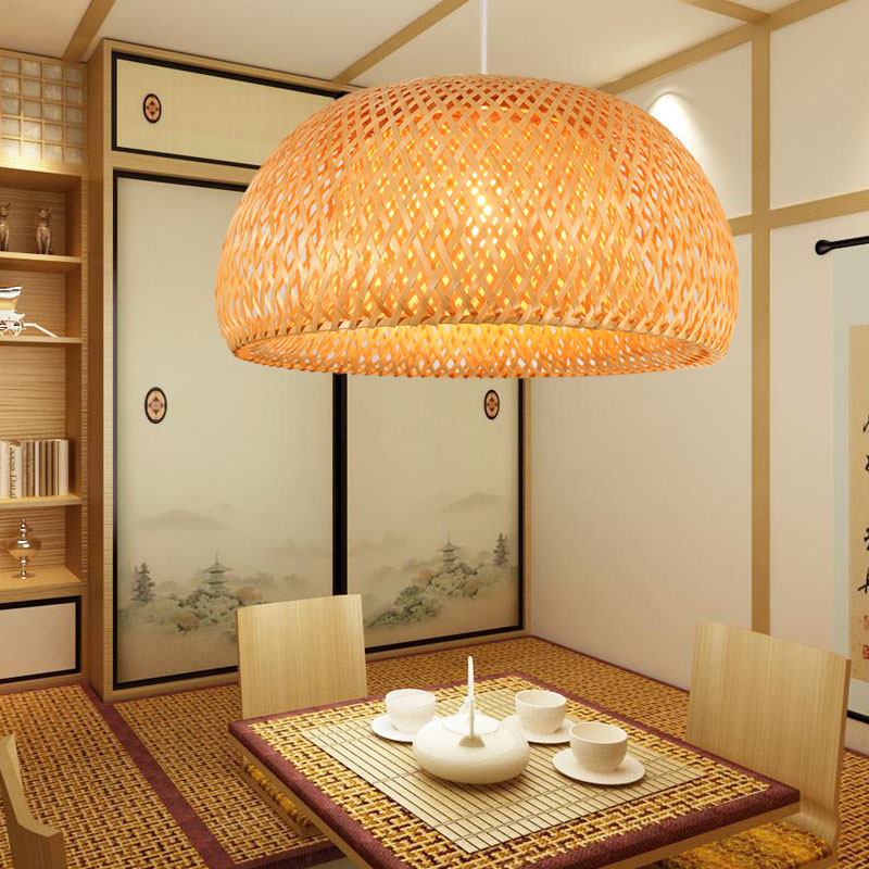 Southeast Asian handmade bamboo Pendant Lights Vintage farmhouse restaurant cashier Japanese tatami pastoral Pendant Lamps zb26 southeast asian chinese antique tea bamboo rattan lamp chandelier lamp box farmhouse inn lights ya7265