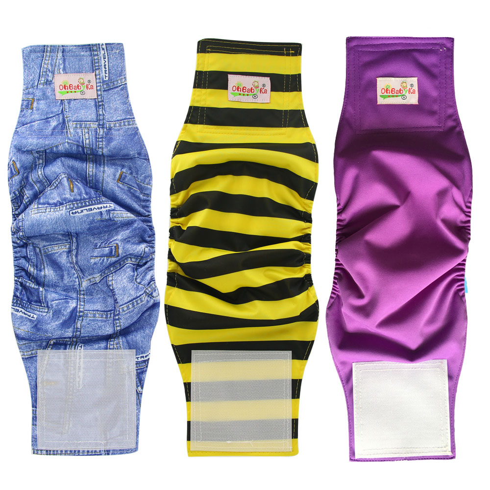 3 Pack Waterproof Pet Diapers 2019 Washable Dog Diapers Brand Breathable Male Dog Wraps Premium Doggie Diapers Underwear Pants