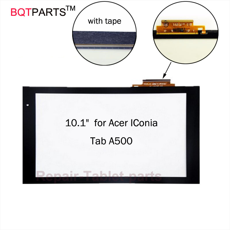 BQT 10.1 Touchscreen for Acer IConia Tab A500 A501 Touch Screen Panel Digitizer Repair Parts 100% Guarantee
