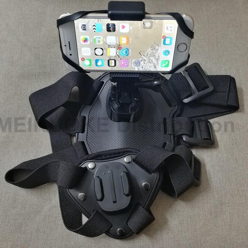조정 가능한 개 페치 하네스 가슴 장착 용 GoPro Hero 5 4 3+ 2 SJ4000 / SJ5000 액션 카메라 액세서리 및 스마트 폰