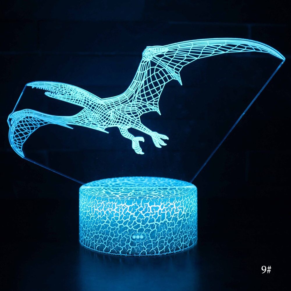 3D LED Night Light Lamp Dinosaur Series 16Color 3D Night light  Remote Control Table Lamps Toys Gift For kid Home Decoration D23 4