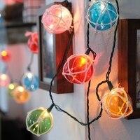 40Led Fairy Rope Winding Colorful Ball Battery Power String Light Luminaria 5m LED Decor For Christmas Garland Wedding gerlyanda