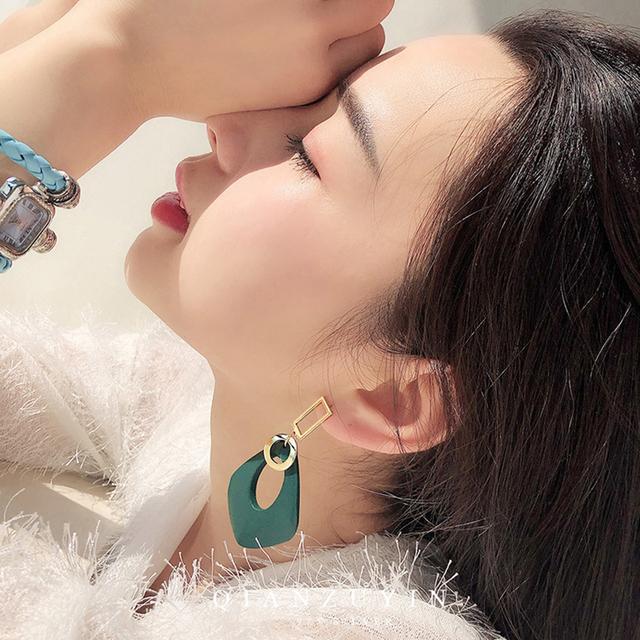 Seven Candy Silver Needle Earrings