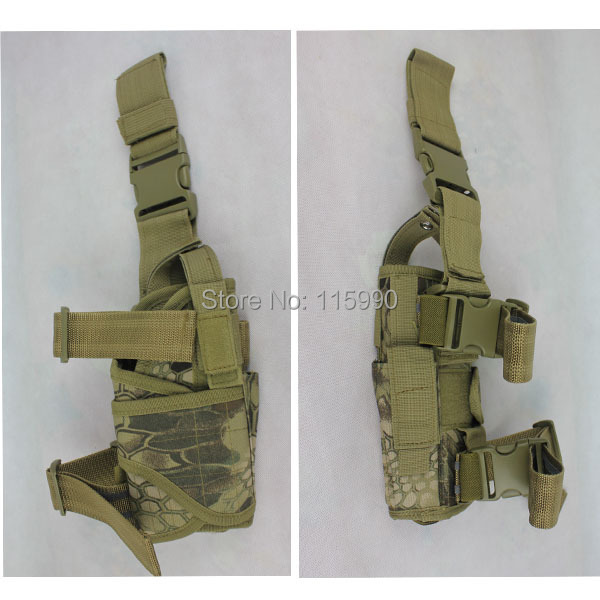 Kryptek Tactical Drop Leg Pistol Holster Pouch Bag airsoft gun holster Mardrake Drop leg Holoster Kryptek Holster