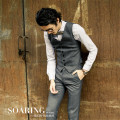 British Style Men Autumn Vest Suit Brand Clothing Single Breasted Slim Fit Fashion Man Waistcoat Winter Men Vest Suit A2925