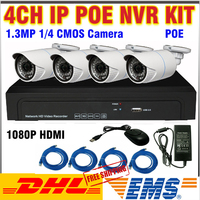 New Arriav 1U 36pcs IR LED 1 0MP HD IP Cameras 4ch 1080P 960P NVR POE