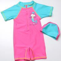 New Lovely Pink Kids Swimsuit Quality Girls Swimwear Teenagers One-pieces Little Mermaid Infant Bath Suit Children Beachwear