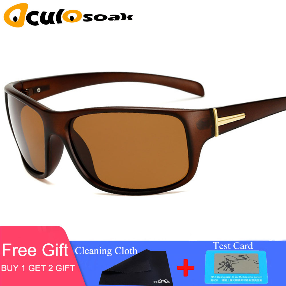 Hot Driving Sunglasses Men Polarized Night Vision Goggles Sun Glasses Vintage Sports Glasses Male Reduce Glare UV400 in Men 39 s Sunglasses from Apparel Accessories