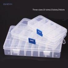 1 шт портативный контейнер для ювелирных изделий 10 ячеек