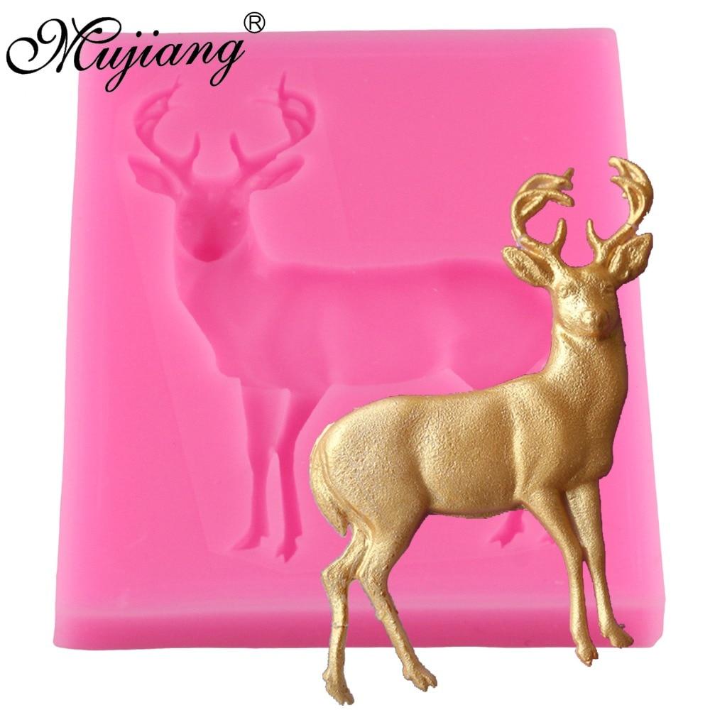 Venado Pastel de Navidad Moldes De Silicona Fondant Cake Decorating Herramientas