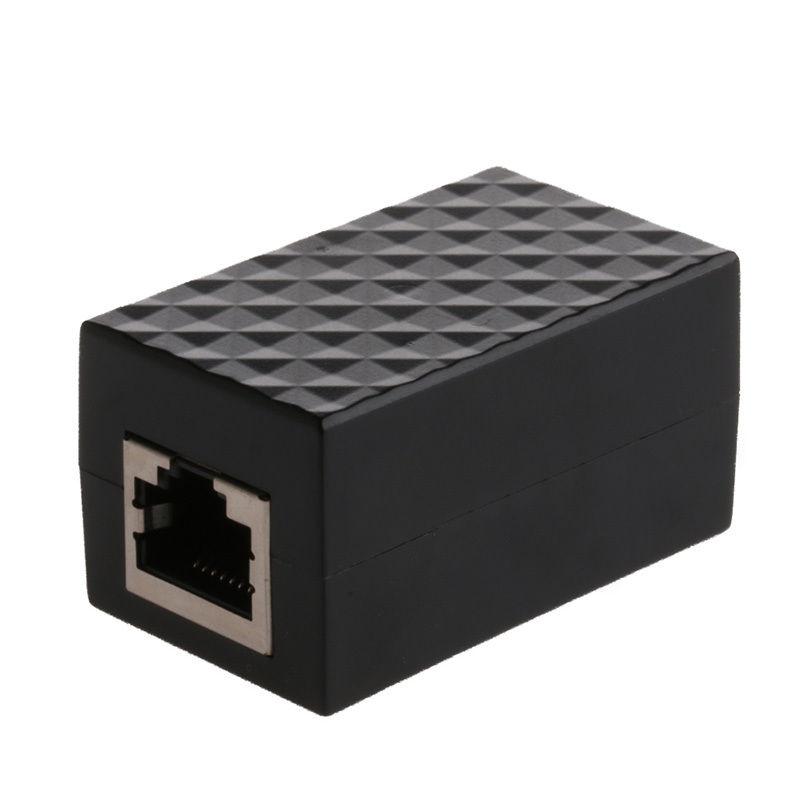 Lightning Arrester Ethernet Surge Protector RJ-45 Ethernet Cable Join Extension Converter Adapter Coupler C26