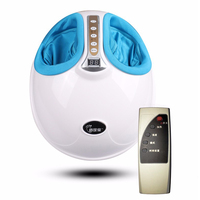 220V Electric Antistress 3D Shiatsu Kneading Air Pressure Foot Massager Infrared Foot Care Machine Heating Therapy