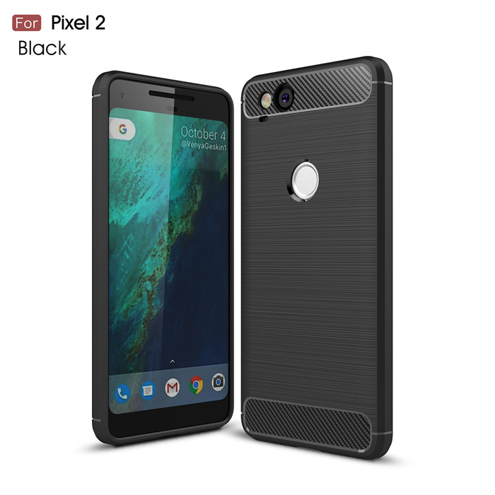 For Google Pixel 2 2XL 3 XL Case Slim Armor Soft Silicone Phone Back Cover For Pixel 3XL Brushed Carbon Fiber Coque