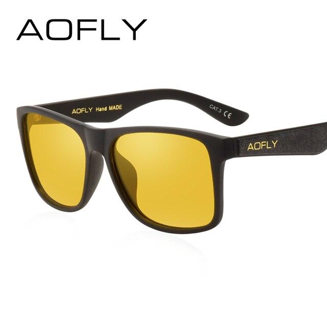 AOFLY Vintage Retro gafas de Sol Polarizadas Hombres Revestimiento de  Espejo de Conducción Gafas de Sol 1b11c9fcae27