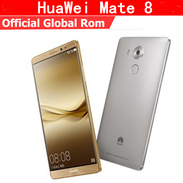 """Оригинальный Huawei Mate 8 4G LTE мобильный телефон Восьмиядерный процессор KIRIN 950 Android 6,0 6,0 """"FHD 1920X1080 4G B Оперативная память 128 ГБ Встроенная память NFC Touch ID"""