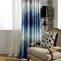 Синие фиолетовые затемненные занавески для спальни из полиэстера и хлопка с принтом  современные занавески для гостиной  окна