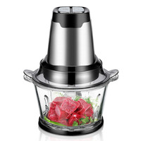 Meat Grinders Electric meat grinder household cooking stir minced pork garlic puree with stainless steel small