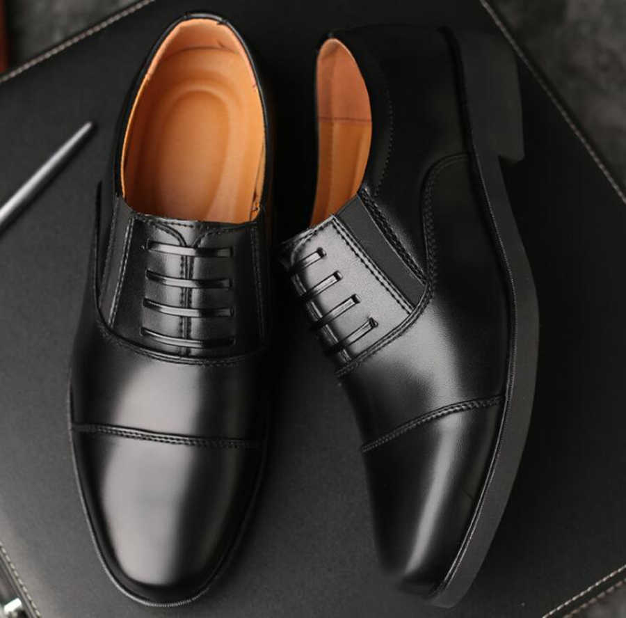 Spring and Autumn New Set of Feet Officer Three Joint Leather Shoes School Men's Shoes Business Casual Shoes Men's Shoes