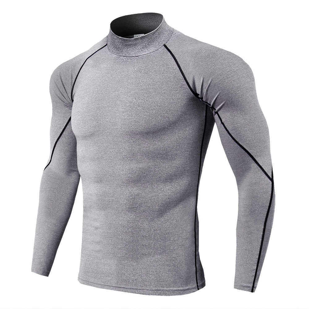KLJR Men Short Sleeve Quick Dry Base Layer Compression Round Neck Print Gym Trainning T-Shirt Tee Top