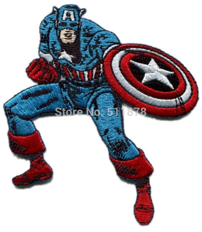 Marvel Comics Patch-Retro Captain America Shield 3 Round
