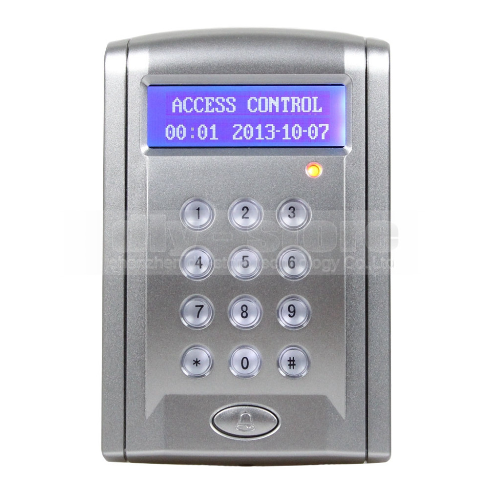DIYSECUR Proximity RFID Reader 125KHz Keypad Access Controller Security System Kit With Doorbell Button + 10 Free Keyfobs