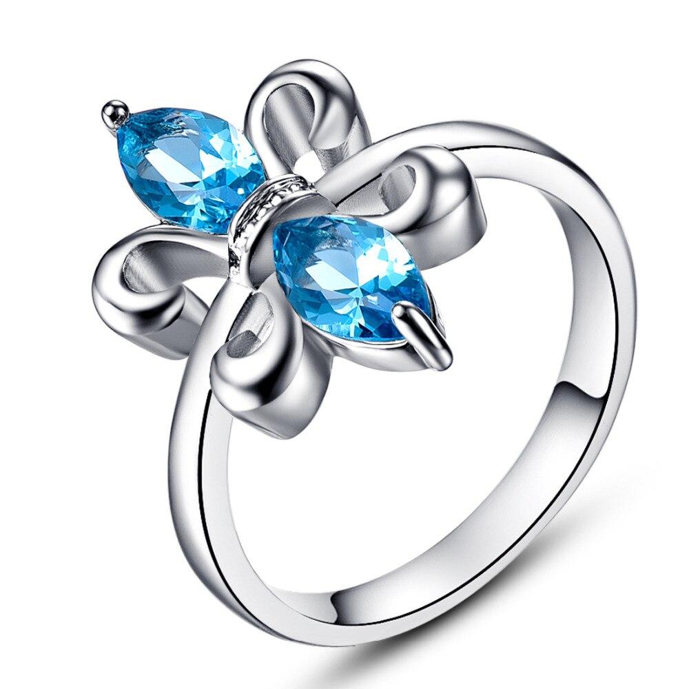 Wholesale Fleur De Lis Jewelry Party Rings London Blue CZ ...