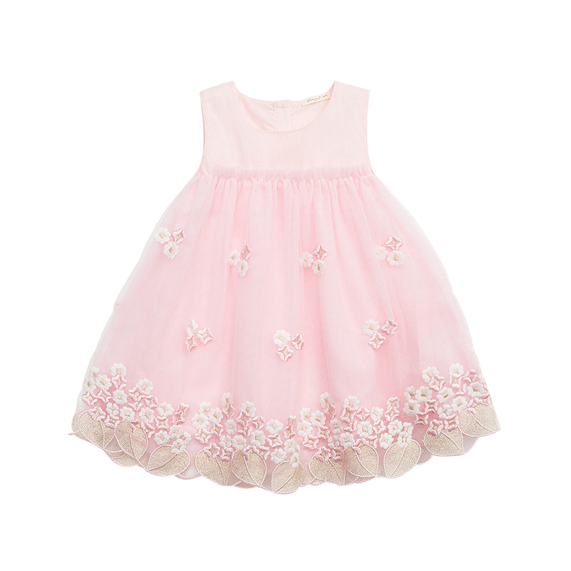 Girls Summer Dress 2018 Casual Girls Dress Children Clothing Ball Gown Mesh  Lace Kids Clothes Party Girls Princess Dresses 47c128c1b0cc