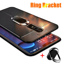 лучшая цена Finger Ring Case for Meizu M6S M5s Back Cover Silicone Meizu M5 M6 Note M6S 16 th Plus Magnetic Car Holder Litchi Leather Case