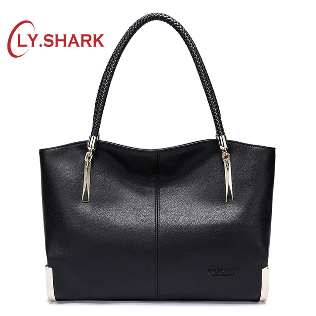 LY SHARK Handbags Women Shoulder Bag Messenger Bag Women 2019 Female Ladies Genuine Leather Handbags Women