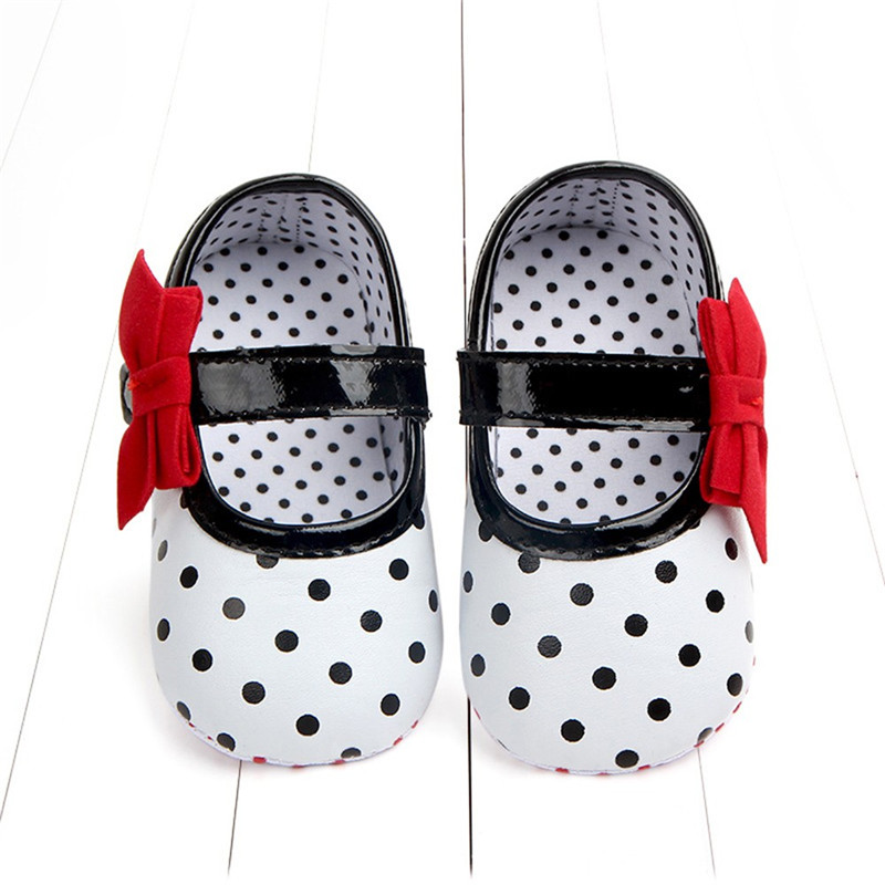 Shoes Polka-Dot Newborn-Baby Baby-Girl First-Walkers Bowknot Soft-Sole Anti-Slip Toddler