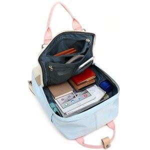 Image 2 - Junior High School Student Canvas Backpack Multi color Teenager Ladies Travel Rucksack Fashion Girls Bookbag Mochila Feminina