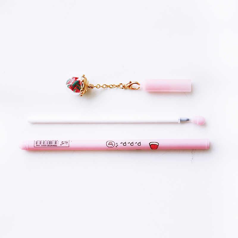 JIANWU 5 шт. 0,5 мм милый мультфильм желая бутылки кулон нейтральная ручка с световой Гель Ручка канцелярия для учеников