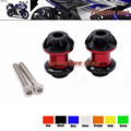For YAMAHA YZF R25 YZFR25 YZF-25 2014-2015 , YZF R3 YZFR3 YZF-R3 2015 Motorcycle  Swingarm Spools slider 6mm stand screws Red