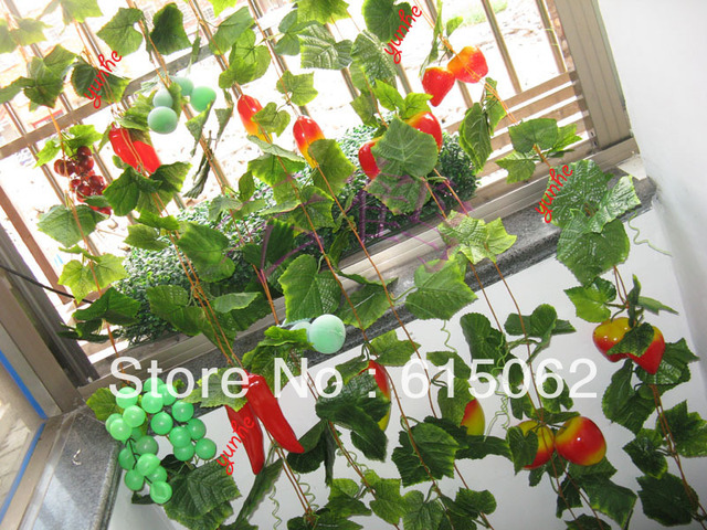 Artificial Fruit Fake For Decorations Decoration Grapes Straberry Climbing  Fruits And Vegetables Apples Booth Rattan Mango