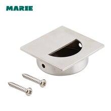 Flush Recessed Pull Door Handle Stainless steel 304 furniture conceal handle,hide cabinet Kitchen knob,flush handle