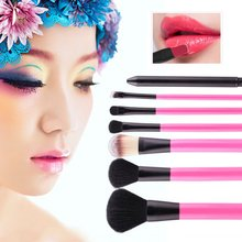 Professional Makeup Sets 7pcs Make Up Bag Brush Full Cosmetics Brushes Eyebrow Powder Lipsticks Shadows Kits High Quality TF