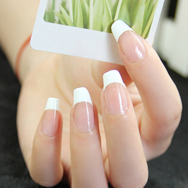 48pcs Diy French Nail Design Manicure Nail Art Decorations Guide