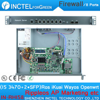 Internet yönlendirici ROS 8 Gigabit akış kontrol ile güvenlik duvarı pfsense I5 3470 CPU Intel 1000 M 6 82583 V 2 Gigabit 82580DB Fiber