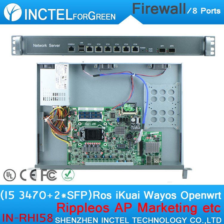 Internet router ROS 8 Gigabit flow control firewall pfsense with I5 3470 CPU Intel 1000M 6 82583V 2 Gigabit 82580DB fiber стоимость