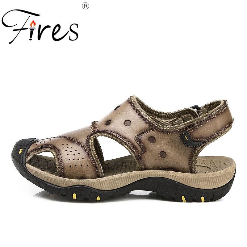 Fires Summer New Trend Mans Sandals Big size 38-45 Fashion Casual Shoes Male Shock Absorption Soles Men Leisure Sandal
