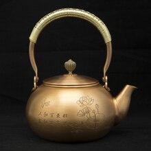 1.2L handmade red copper teapot glass samovar ceramic enameled from clay kettle metal puer green tea gift Japanese