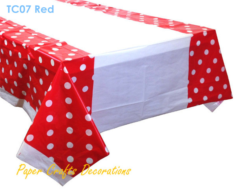 108*180cm Lemon Yellow Polka Dots Disposable Square Plastic Table Cover  Wedding Birthday Party Decorations In Hair Clips U0026 Pins From Beauty U0026  Health On ...