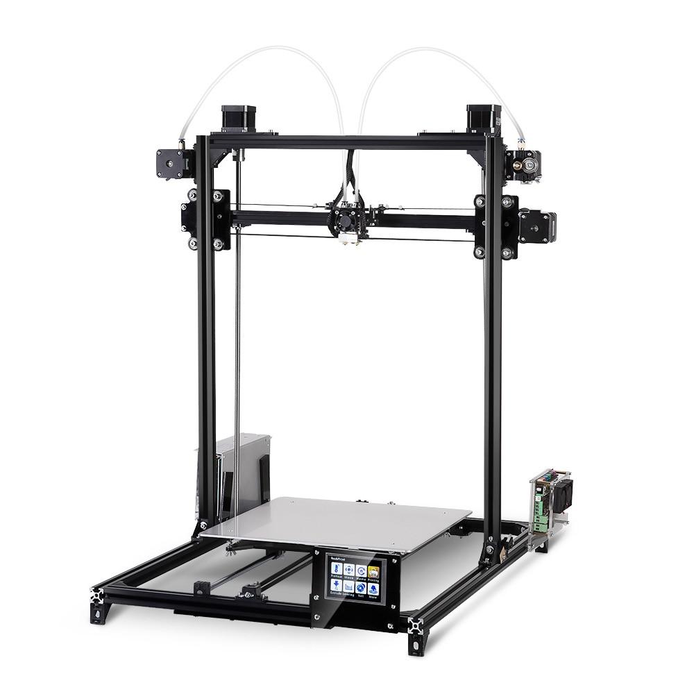 FLSUN i3 Plus Écran Tactile Double-extrudeuse DIY 3D Imprimante Kit Buse Support D'impression ABS HANCHES PLA Filaments de Bois soutien SD carte