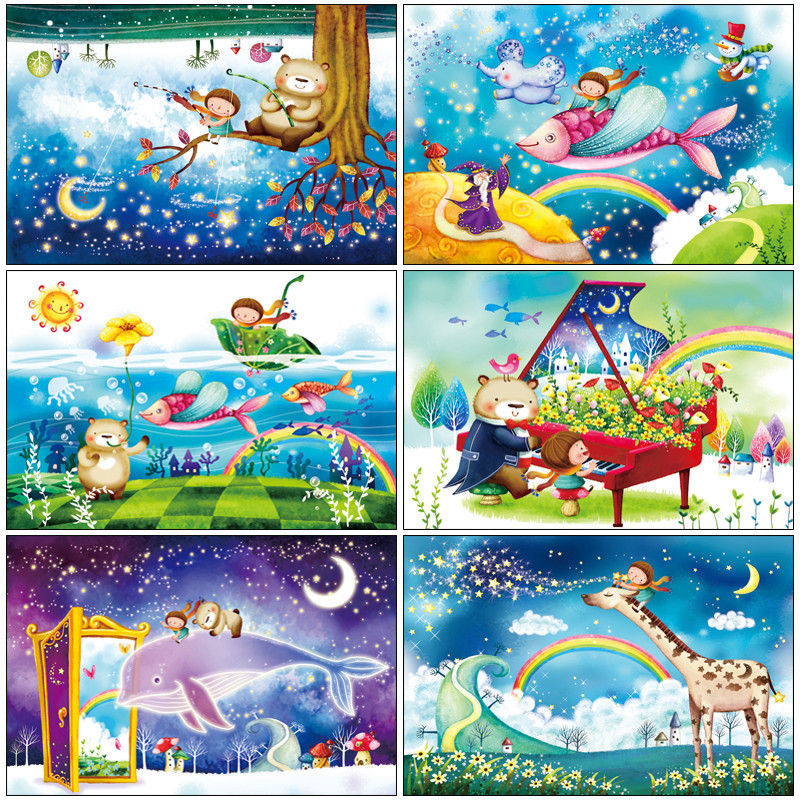 wooden Jigsaw puzzle 1000 pieces kawaii cartoon puzzles educational toys for children kids toy home decoration collectable 1